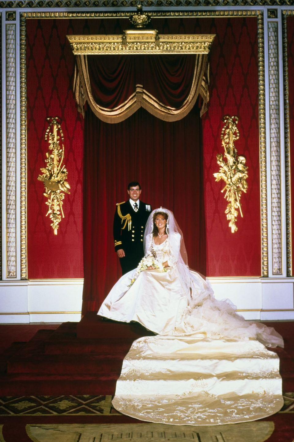 "<p>Ferguson's father was a polo manager for the royal family, and during her time running in royal crowds, she became dear friends with Lady Diana Spencer, long before she was Princess Diana. After Charles and Diana's wedding, Sarah was invited to stay with the Queen at Windsor Castle during Ascot week in 1985, where she met Andrew. </p><p>The two were seated next to one another at lunch, the Duchess of York recalled in her memoir, and when Sarah refused dessert because she was on a diet, Andrew told her it would be impolite to skip the final course. When it came time for him to take his portion, he declined, at which she wrote, ""I indignantly swatted him on the shoulder with the back of my hand."" The two were married just over a year later.</p>"