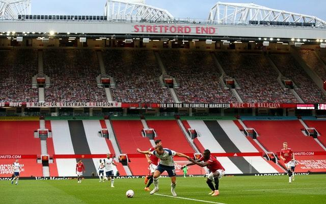 Manchester United have played in front of empty stands since March