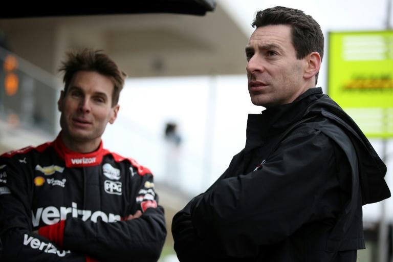 Defending champion Simon Pagenaud of France, right, and fellow three-time winner Will Power of Australia are favored ahead of Saturday's IndyCar Grand Prix of Indianapolis (AFP Photo/Chris Graythen)