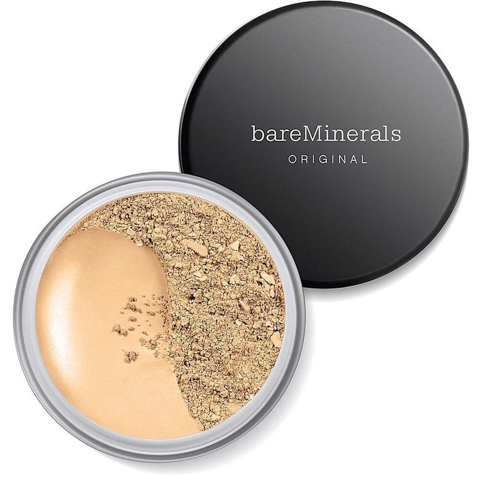 """<p><strong>bareMinerals</strong></p><p></p><p><strong>$32.00</strong></p><p><a href=""""https://go.redirectingat.com?id=74968X1596630&url=https%3A%2F%2Fwww.ulta.com%2Foriginal-foundation-broad-spectrum-spf-15%3FproductId%3DVP11362&sref=https%3A%2F%2Fwww.bestproducts.com%2Fbeauty%2Fg33418991%2Fnon-comedogenic-makeup%2F"""" target=""""_blank"""">Shop Now</a></p><p>When it comes to clean, irritant-free beauty, bareMinerals is the O.G. </p><p>This foundation has been a best-seller for years with its gentle, easy-to-use formula that's created with just five vegan mineral ingredients. You won't find any unnecessary additives, binders, fillers, or talc in this foundation — just clean complexion coverage that stands the test of time.</p><p><strong>More: </strong><a href=""""https://www.bestproducts.com/beauty/g489/powder-foundation-makeup/"""" target=""""_blank"""">Get Light-as-Air Coverage With These Featherweight Powder Foundations</a><strong></strong></p>"""