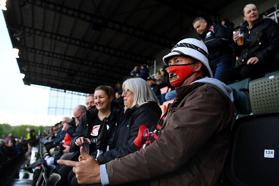 Saracens' fans during their game against Ampthill (Getty Images)