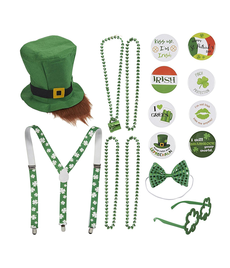 aadde7f4 Juvale St. Patrick's Day 16 Piece Set Costume Party Accessories