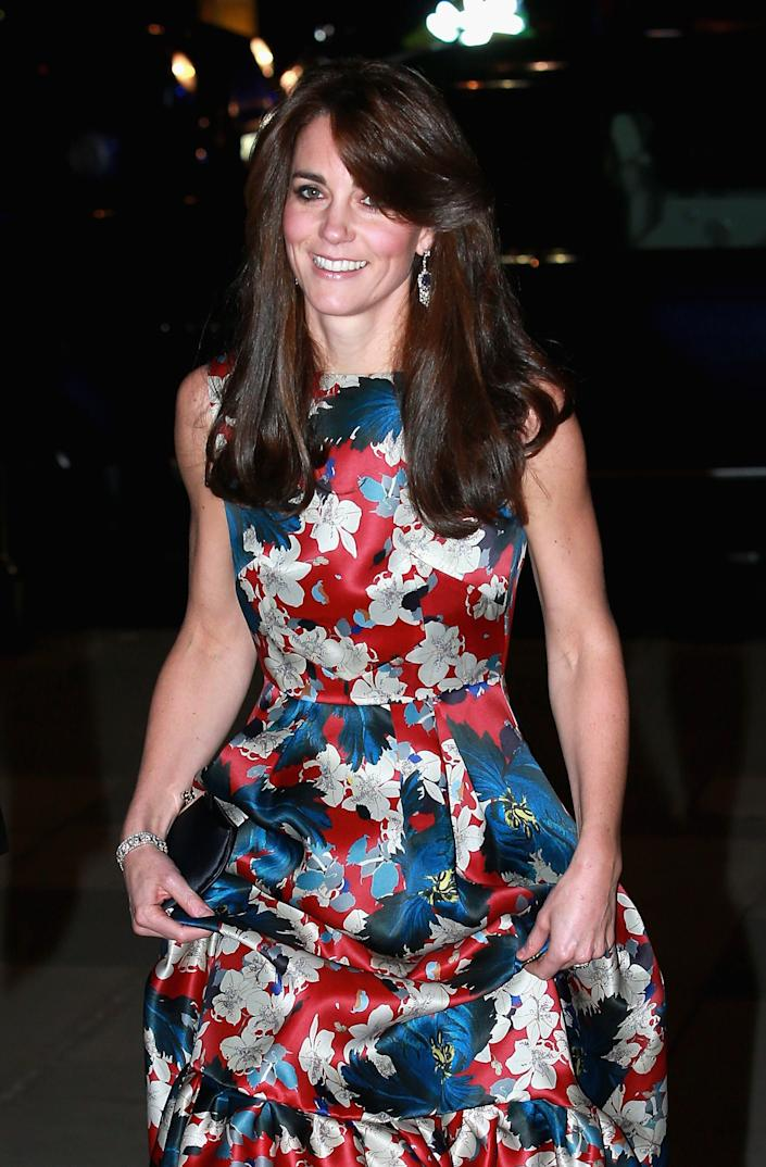The Duchess of Cambridge first wore the earrings for the 100 Women in Hedge Funds gala dinner in 2015 [Photo: Getty]