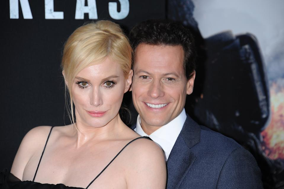 "Actors Ioan Gruffudd and Alice Evans arrive at the premiere of ""San Andreas"" held at the TCL Chinese Theater in Hollywood. (Photo by Frank Trapper/Corbis via Getty Images)"