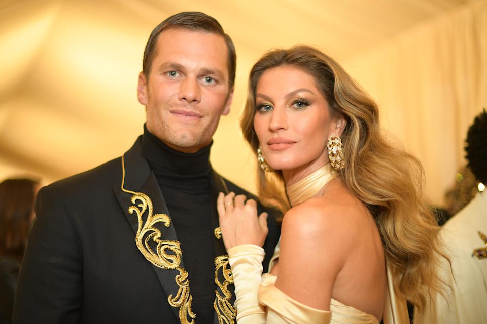 Gisele Bündchen sent husband Tom Brady (pictured last May) some love for the Super Bowl. (Photo: Matt Winkelmeyer/MG18/Getty Images for the Met Museum/Vogue)