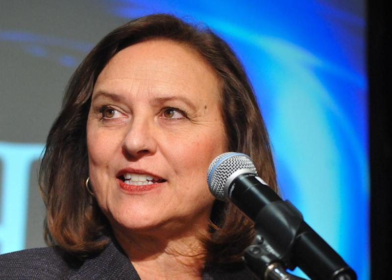FILE - This Nov. 6, 2012 file photo shows Sen.-elect Deb Fischer, R-Neb. speaking in Lincoln, Neb. When the next Congress cranks up in January, there will be more women, many new faces and 11 fewer of the tea party-backed 2010 House GOP freshmen who sought re-election. Overriding those changes, though, is a thinning of pragmatic, centrist veterans in both parties. Among those leaving are some of the Senate's most pragmatic lawmakers in both parties, nearly half the House's centrist Blue Dog Democrats and several moderate House Republicans. (AP Photo/Dave Weaver, File)