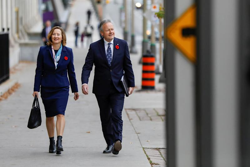 Bank of Canada Governor Stephen Poloz and Senior Deputy Governor Carolyn Wilkins walk to a press conference after announcing the latest rate decision in Ottawa, Ontario, Canada October 30, 2019. REUTERS/Blair Gable