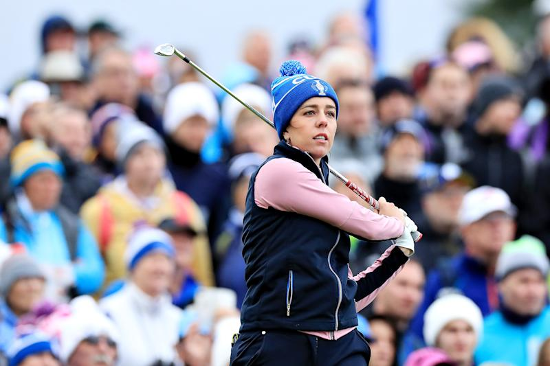 Hall beat Lexi Thompson, the top-ranked player on the American team, in Sunday singles.
