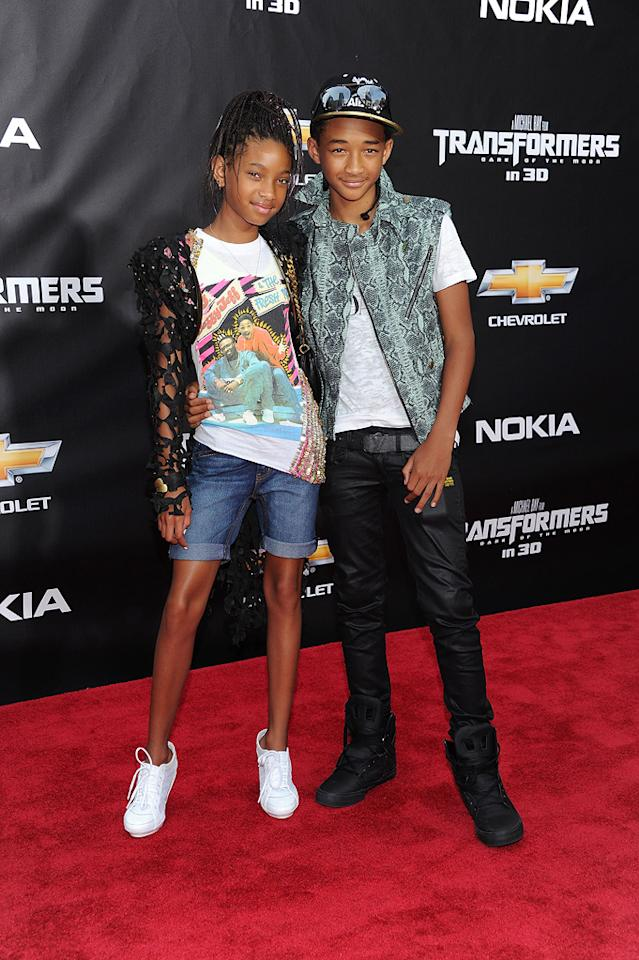 """<a href=""""http://movies.yahoo.com/movie/contributor/1809878436"""">Willow Smith</a> and <a href=""""http://movies.yahoo.com/movie/contributor/1808510667"""">Jaden Smith</a> at the New York City premiere of <a href=""""http://movies.yahoo.com/movie/1810159115/info"""">Transformers: Dark of the Moon</a> on June 28, 2011."""