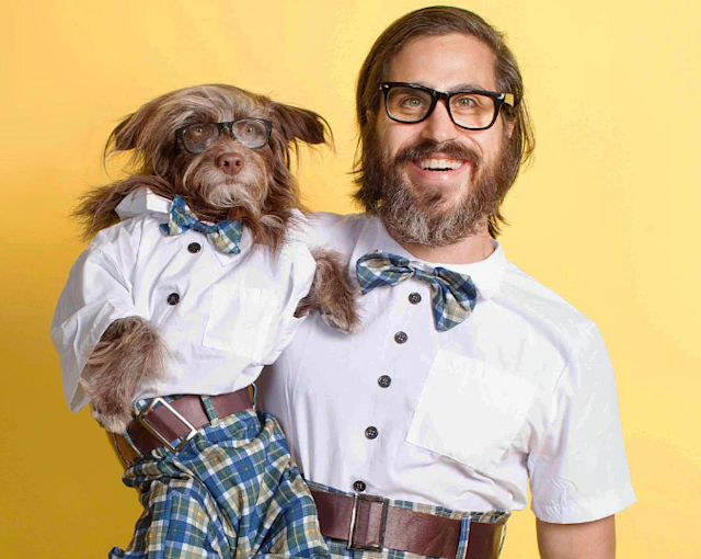 This man looks and dresses like his dog, and is our hero