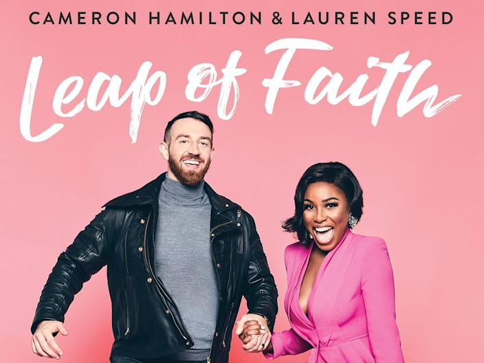"""The cover of """"Love Is Blind"""" stars Lauren Speed and Cameron Hamilton's new book, """"Leap of Faith."""""""
