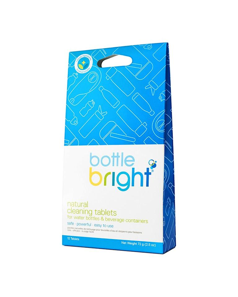 "<p>Sometimes, we find a cleaning product that makes us think, <em>Why didn't we know about this sooner</em>? Case in point: these <a href=""https://www.realsimple.com/home-organizing/cleaning/bottle-bright-water-bottle-cleaner-tablets"" target=""_blank"">water bottle-cleaning tablets</a>. Drop one of these tablets into a water bottle filled with warm water, and it will remove stains and odor—no scrubbing necessary. </p> <p><strong>To buy: </strong>$8, <a href=""https://www.amazon.com/Bottle-Bright-Tablets-Biodegradable-Hydration/dp/B06XYCVDB9/ref=as_li_ss_tl?ie=UTF8&linkCode=ll1&tag=rshol6bestcleaningproductswediscoveredin2019kholdefehrdec19-20&linkId=88ad259559c8a3c5b0f06d52c177b139&language=en_US"" target=""_blank"">amazon.com</a>. </p>"