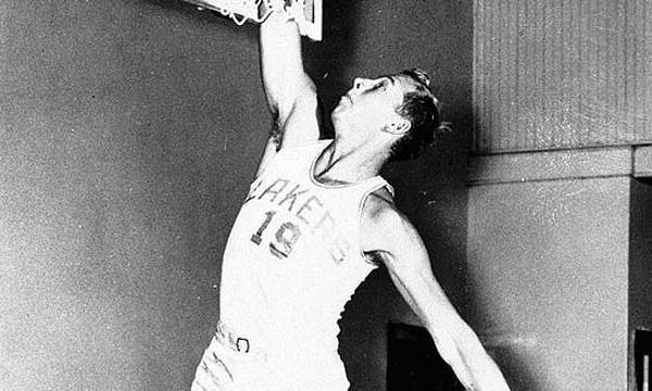 Vern Mikkelsen averaged 14.4 points and 9.9 rebounds per game during his pro basketball career.