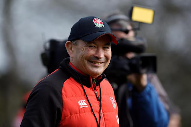 Rugby Union - England Training - Pennyhill Park, Bagshot, Britain - March 14, 2018 England head coach Eddie Jones during training Action Images via Reuters/Adam Holt