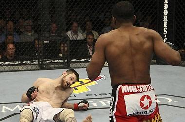 Paul Daley (R) knockout of Dustin Hazelett (L) earned Daley Knockout of the Night at UFC 108 on Jan. 2