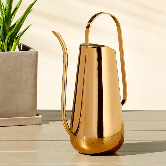 "$50, Cb2. <a href=""https://www.cb2.com/brass-watering-can/s173648"" rel=""nofollow noopener"" target=""_blank"" data-ylk=""slk:Get it now!"" class=""link rapid-noclick-resp"">Get it now!</a>"