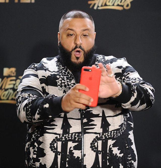 LOS ANGELES, CA – MAY 07: DJ Khaled poses in the press room at the 2017 MTV Movie and TV Awards at The Shrine Auditorium on May 7, 2017 in Los Angeles, California. (Photo by Jason LaVeris/FilmMagic)
