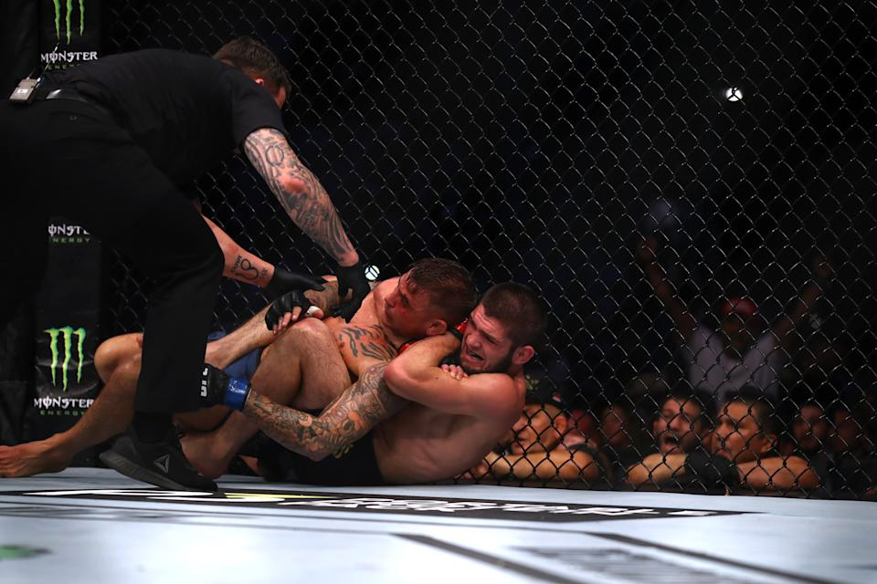 Poirier suffered the same fate as McGregor in his attempt to dethrone the RussianGetty Images