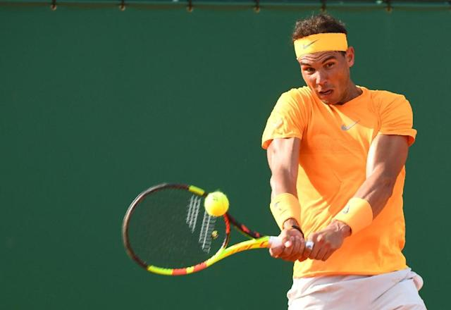 Rafael Nadal is playing his first ATP Tour event since January's Australian Open (AFP Photo/YANN COATSALIOU)