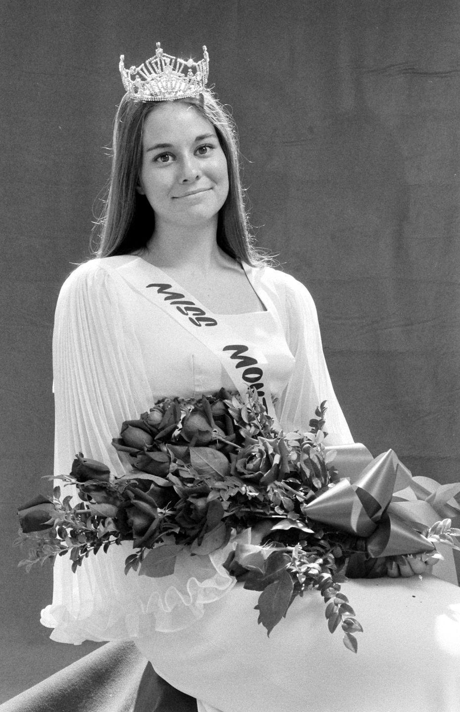<p>Kathy Huppe from Montana was barred from competing in the Miss America contest in 1970 due to her political views and opposition to the Vietnam War. Huppe's bravery makes her Miss Montana pageant evening gown all the more beautiful.</p>