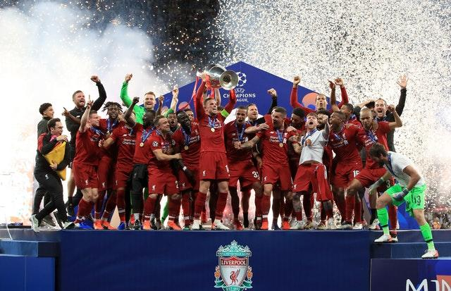 Liverpool went all the way in the Champions League, beating Tottenham in the final in June (Peter Byrne/PA)