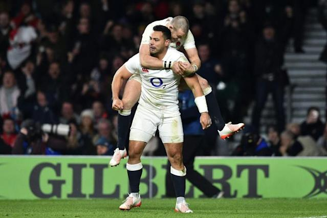 Ben Te'o and Mike Brown (above) were allegedly involved in a fracas at an England training camp (AFP Photo/Glyn KIRK )