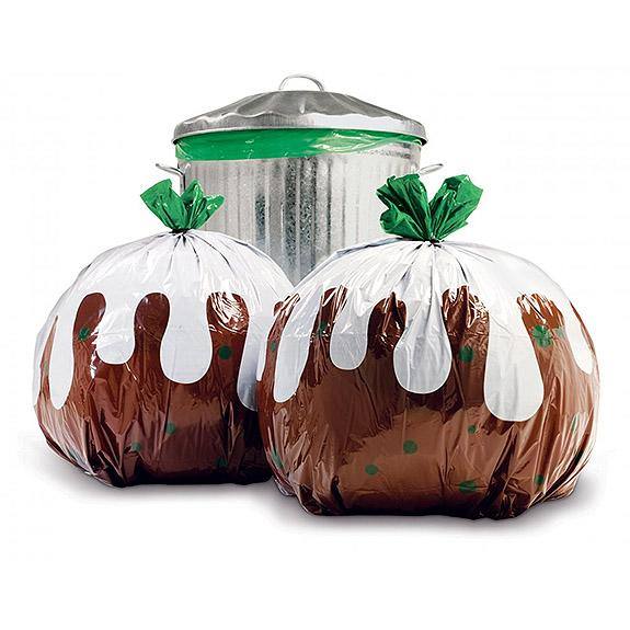 "<p>Is there anything rubbish about Christmas? Apparently not as you can even give your trash a festive make-over with these Christmas Pudding Bin Bags. <a rel=""nofollow"" href=""https://www.totally-funky.co.uk/PROD3222/Christmas-Pudding-Bin-Bags"">[Totally Funky, £9.99]</a> </p>"