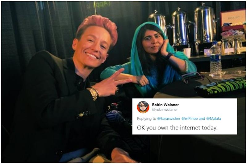 Candid Photo of Malala Yousafzai and Megan Rapinoe at a Women's Conference is Breaking Twitter