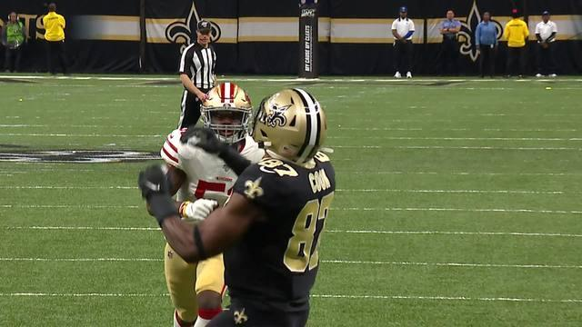 NFL Network's Brian Baldinger breaks down the shootout between the San Francisco 49ers and the New Orleans Saints in Week 14.