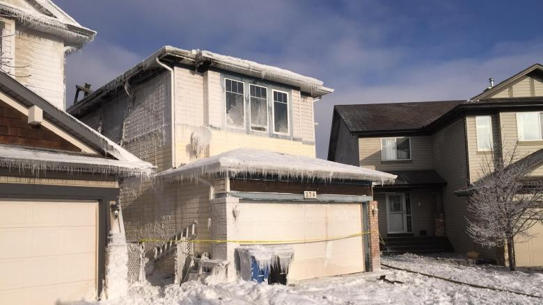 Crews battle house fire in Panorama Hills in northwest Calgary
