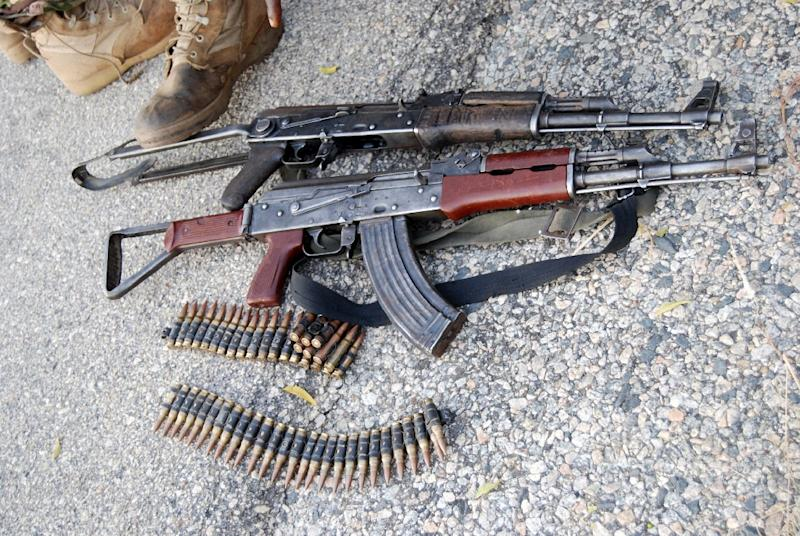 Weapons seized by Nigerian forces around Boko Haram's Sambisa forest stronghold in the restive northeast (AFP Photo/)