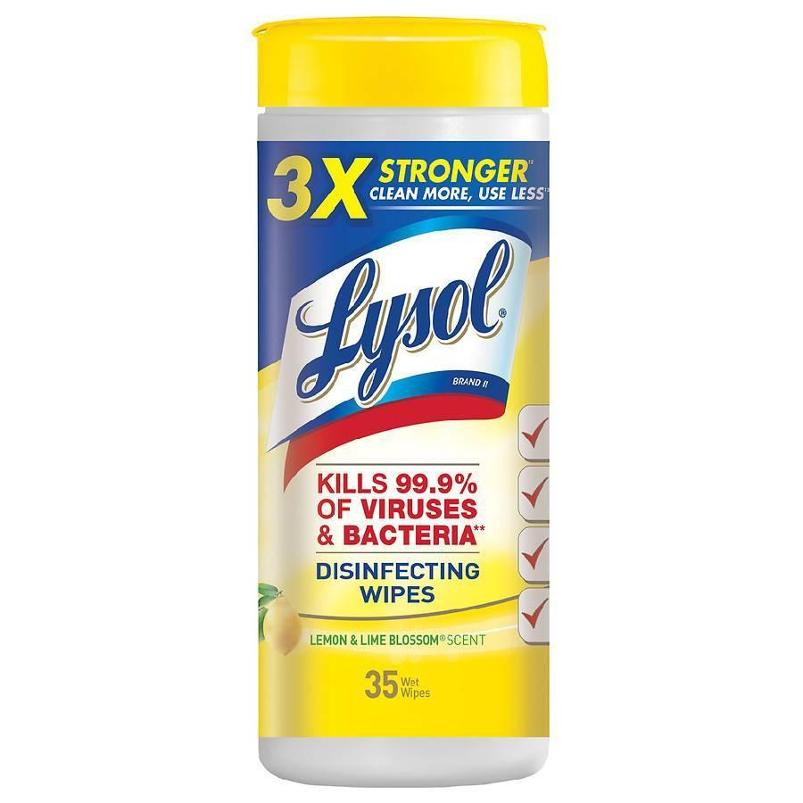 """<p><strong>Lysol</strong></p><p>walgreens.com</p><p><a href=""""https://go.redirectingat.com?id=74968X1596630&url=https%3A%2F%2Fwww.walgreens.com%2Fstore%2Fc%2Flysol-disinfecting-wipes-lemon-lime%2FID%3Dprod350891-product&sref=https%3A%2F%2Fwww.menshealth.com%2Fhealth%2Fg32145429%2Fbest-cleaning-products%2F"""" rel=""""nofollow noopener"""" target=""""_blank"""" data-ylk=""""slk:BUY IT HERE"""" class=""""link rapid-noclick-resp"""">BUY IT HERE</a></p><p>Lysol combines its popular spray with a cloth, making this a 2-in-1 product. Whether you're looking to clean kitchen counters or bathroom surfaces, this kills 99.9% of viruses living around your house.</p>"""