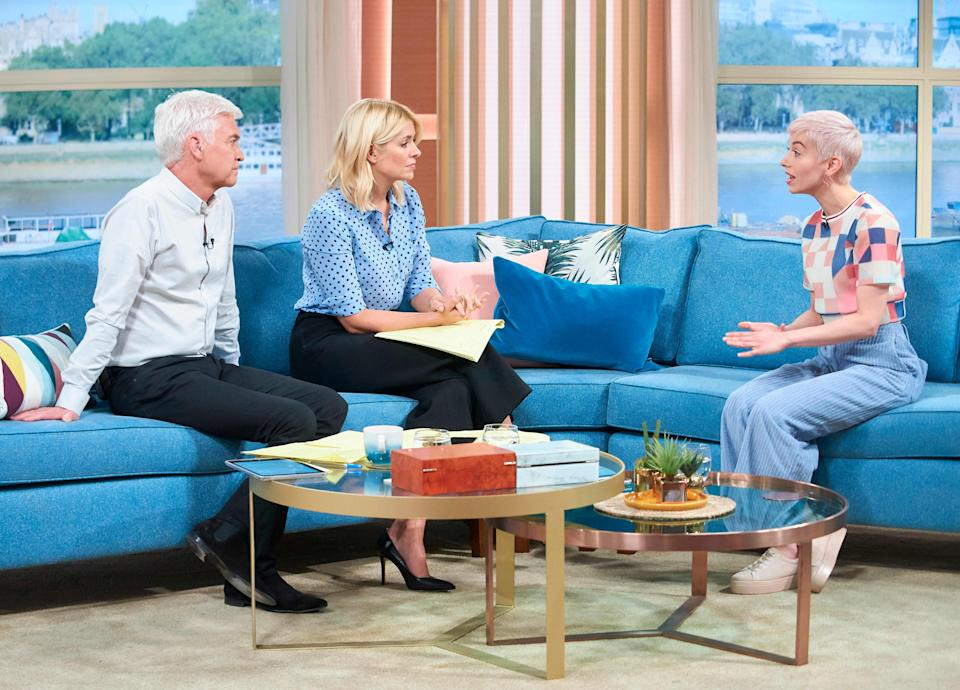 SuRie appearing on ITV's This Morning. (REX)