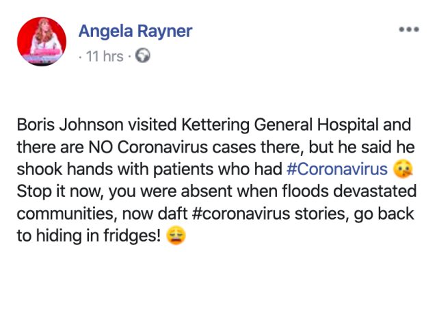 Labour's Angela Rayner accused Mr Johnson of lying. (Angela Rayner/Facebook)