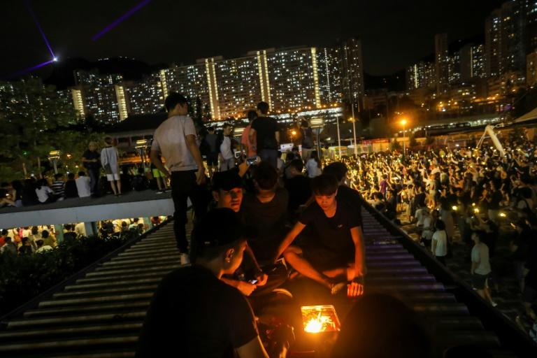 As Hong Kong convulses from more than three months of political unrest, pro-democracy activists used the festival-themed night as a way to keep their movement buoyant