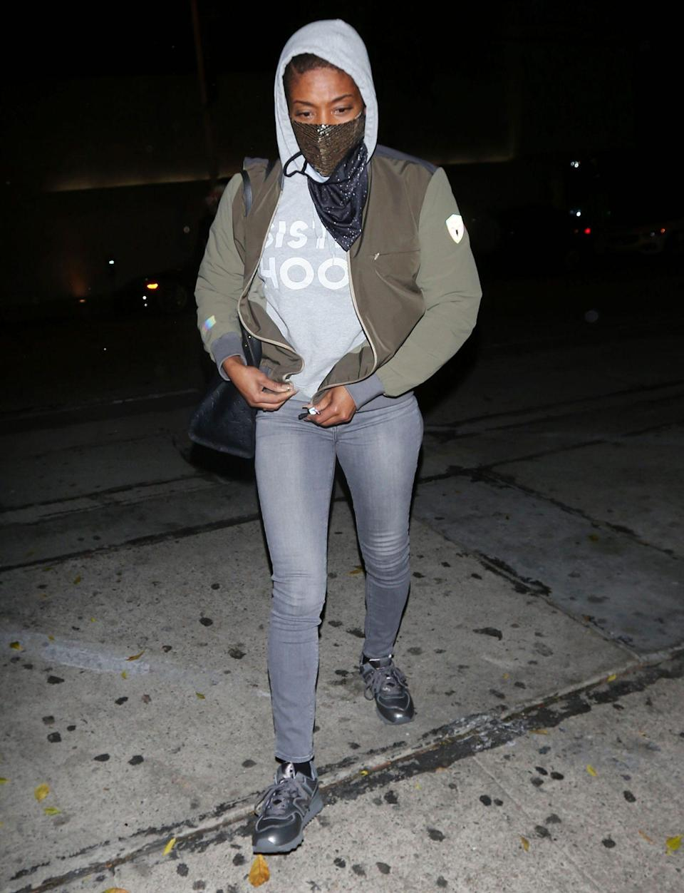 <p>Tiffany Haddish heads to Craig's restaurant in West Hollywood on Tuesday night.</p>