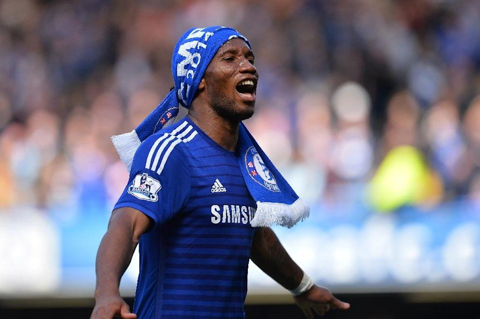 Didier Drogba, pictured on May 3, 2015, joined Major League Soccer's Montreal Impact, the Ivory Coast striker signing with the Canadian club after a rights transfer from the Chicago Fire (AFP Photo/Glyn Kirk)