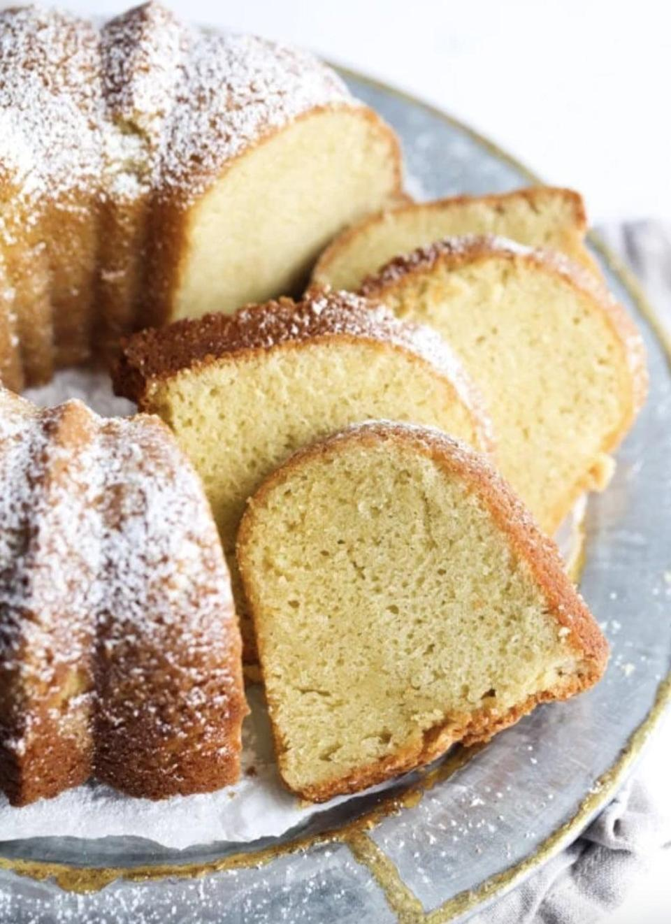 "<p>North Carolina saw a spike in pound cake recipe searches, and for good reason! With a variety of different ways to make it, one recipe just isn't enough.</p> <p><strong>Get the recipe</strong>: <a href=""https://cookiesandcups.com/sour-cream-pound-cake/"" class=""link rapid-noclick-resp"" rel=""nofollow noopener"" target=""_blank"" data-ylk=""slk:sour cream pound cake"">sour cream pound cake</a></p>"