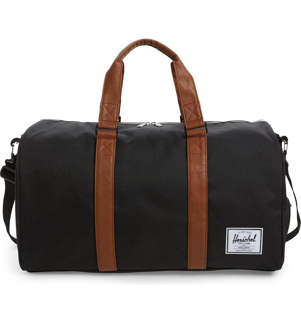 <p>Make their next trek to see you a fashionable one with a cool <span>Herschel Supply Co. duffel bag</span> ($90). It even comes complete with a shoe compartment to keep their garments fresh. </p>