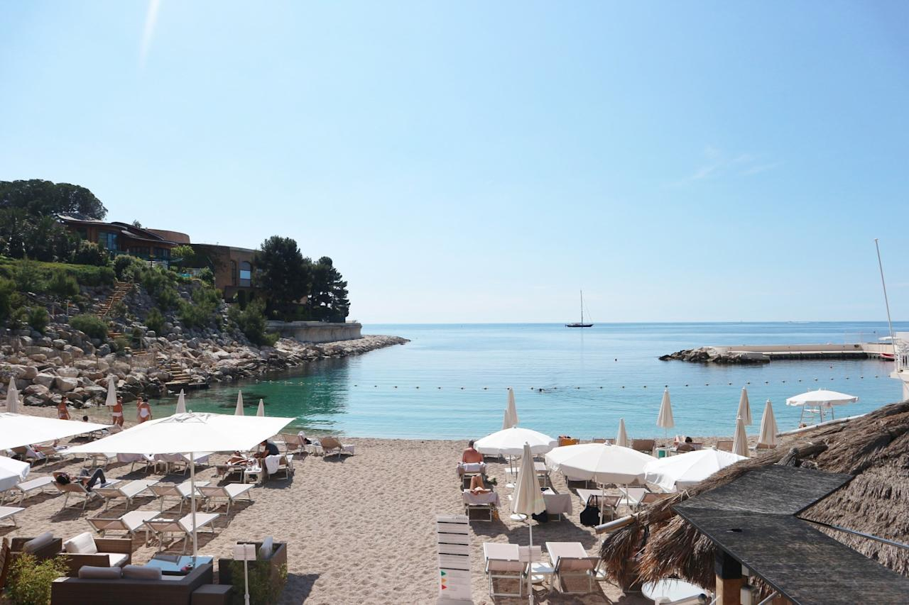"<p>The weather in Monaco is mostly sunny and warm, so it makes sense to make the most of this and its coastal location by staying at the sea. The <a rel=""nofollow"" href=""http://www.lemeridienmontecarlo.com/"">Le Meridien Beach Plaza</a> hotel in Monte Carlo is a luxurious 4-star hotel with its own private beach and beach bar. Rooms start from over 350 Euros per night, so it's not cheap. It's worth remembering however, that everything in Monte Carlo is expensive – even a can of Diet Coke at a bar will set you back 7 Euros. The staff at this hotel are so attentive and it is the one to have its own beach. </p>"