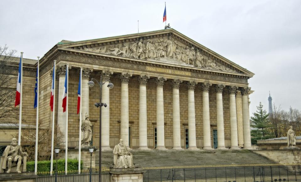 The National Assembly (French: Assemblée nationale) is the lower house of the bicameral Parliament of France under the Fifth Republic.