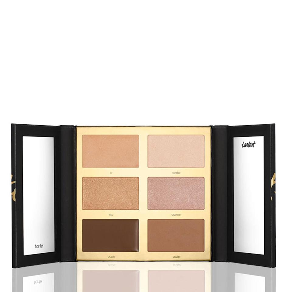 """<p><strong>Tarte Tarteist Pro Glow Highlight & Contour Palette</strong></p> <p>This six-shade palette includes both cream and powder options, which is especially great for combination skin. Plus, having the choices helps when you want to change up the intensity of your look. You can layer both for a more shimmery, defined finish.</p> <p>$45 (<a href=""""http://tartecosmetics.com/tarte-item-tarteist-pro-glow-highlight-contour-palette?mbid=synd_yahoobeauty"""" rel=""""nofollow noopener"""" target=""""_blank"""" data-ylk=""""slk:tartecosmetics.com"""" class=""""link rapid-noclick-resp"""">tartecosmetics.com</a>).</p>"""