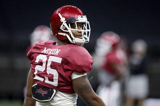 Joe Mixon was selected in the second round of the NFL draft by the Bengals. (AP)