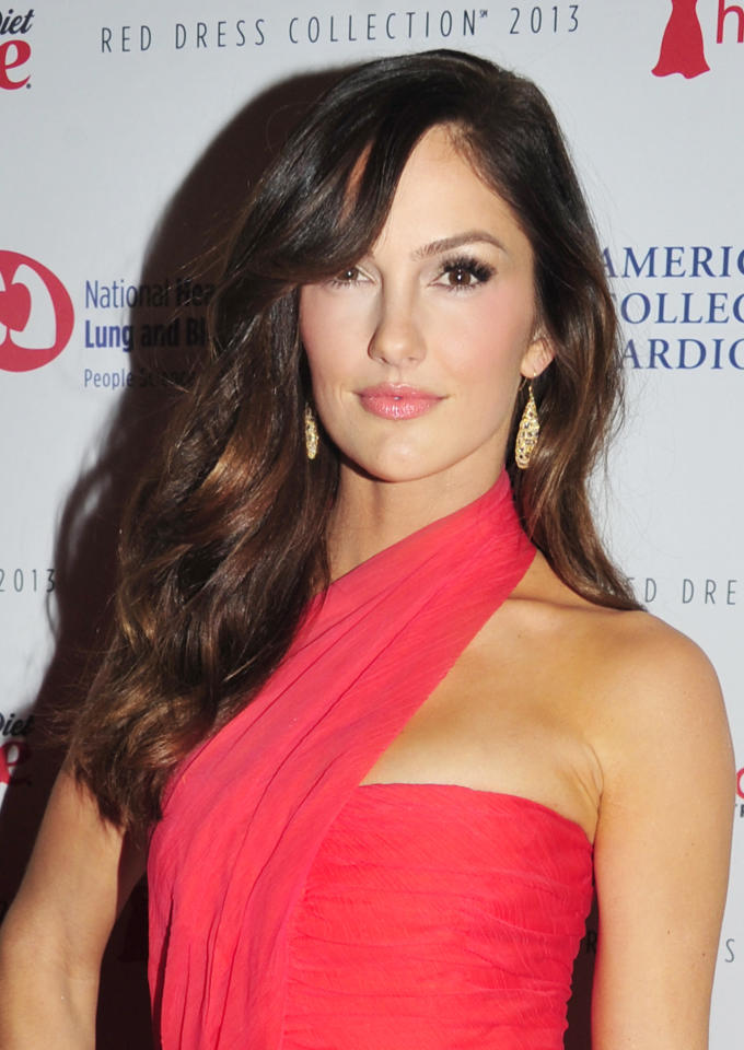 Minka Kelly attends the Red Dress Collection 2013 Fashion Show, on Wednesday, Feb. 6, 2013 in New York. (Photo by Charles Sykes/Invision/AP)