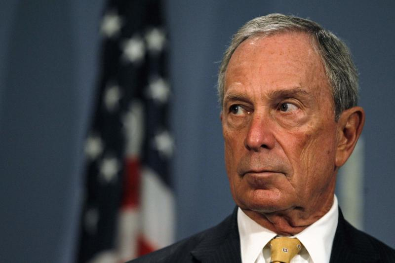File photo of Michael Bloomberg speaking during a news conference at City Hall in New York
