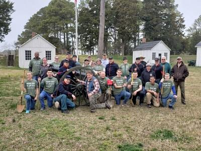 Park Day 2019 at Point Lookout, Md. Photo by Bob Crickenberger for the American Battlefield Trust