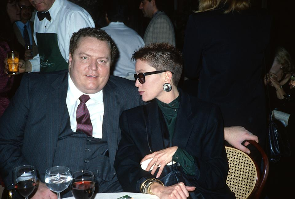 BEVERLY HILLS, LOS ANGELES, CA - JUNE 6: Larry Flynt and his wife Althea Flynt.They met Larry at age 17 in 1971, when she applied for a job as a go-go dancer at his Hustler club in Columbus, Ohio. They were married on August 21, 1976.Flynt died at aged 33 when she drowned in the bathtub at the couple's Bel-Air mansion in Los Angeles, photographed at a hotel in Beverly Hills, Los Angeles, California June 6, 1985 ( Photo by Paul Harris/Getty Images )