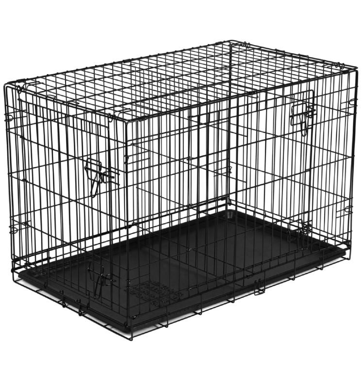 """Vibrant Life Folding Dog Crate, 36"""" Double Door Kennel with Divider. (Photo: Walmart)"""