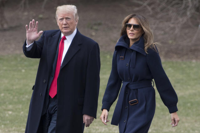 President Trump, pictured with first lady Melania Trump, has declared April National Sexual Assault Awareness Month. (Photo: Getty Images)