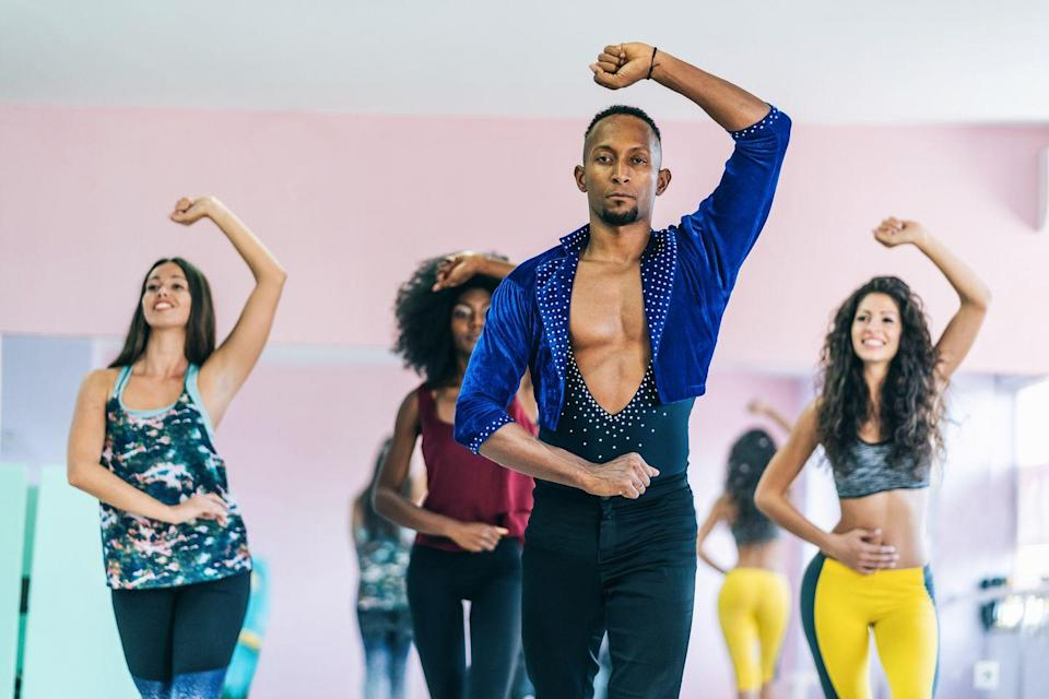 """<p>Grab a partner to learn the intimate movement of bachata, or gather a couple of friends so you can learn the fast pulse of mambo and cha cha together. Virtual and in-person classes are available for beginners and experts depending on the location. Check out <a href=""""https://latindancemovement.com/"""" rel=""""nofollow noopener"""" target=""""_blank"""" data-ylk=""""slk:Latin Dancing Online"""" class=""""link rapid-noclick-resp"""">Latin Dancing Online</a> or <a href=""""https://www.alvinailey.org/extension/classes/beginner-salsa"""" rel=""""nofollow noopener"""" target=""""_blank"""" data-ylk=""""slk:Alvin Ailey"""" class=""""link rapid-noclick-resp"""">Alvin Ailey</a> for more information.<br></p>"""
